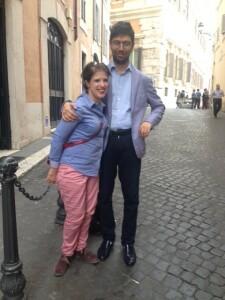 Laura Coccia con il marito