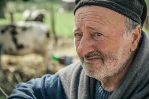 Antonio Guerrini, allevatore a cui era destinata la prima casetta donata (foto Marisa Vallone)