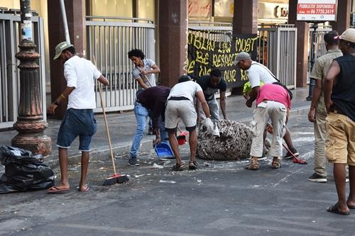 sgombero dei migranti. Piazza Indipendenza, Roma