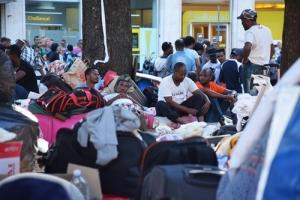 sgomberodei migranti a Piazza indipendenza