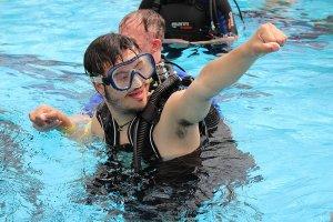 subacquea per i disabili